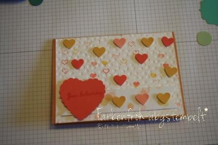 """Eure Karten Designerpapier """" Mondschein"""", Prägefolder """" Punkteregen"""", Framelits """"Hearts a Flutter """" , Stempelset """" Point & Click"""""""